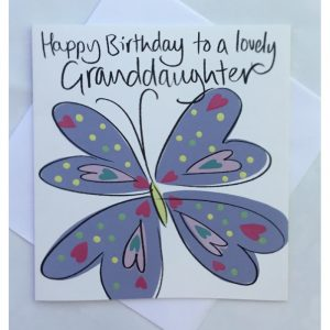 Happy Birthday To A Lovely Granddaughter Card