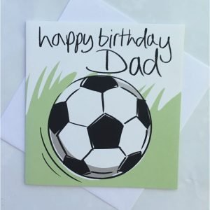 Happy Birthday Dad Football Card