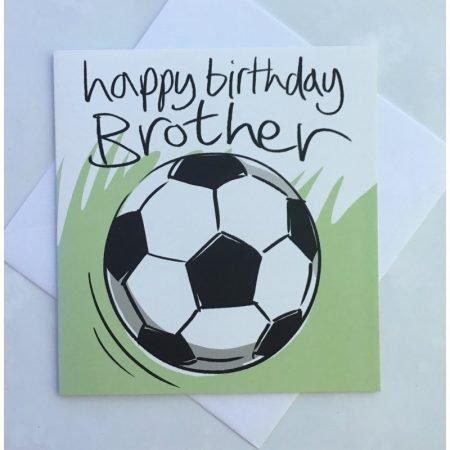 Happy Birthday Brother Football Card