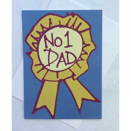 No 1 Dad Rosette Card