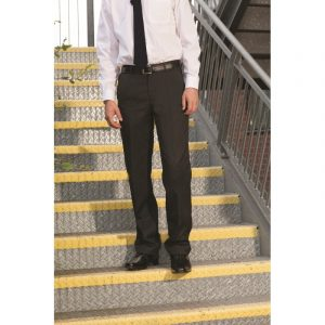 Falmouth Boys Flat-Front Trousers - Black 24-28 inch waist
