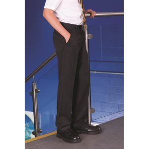 Fulham Boys Flat-Front Trousers - Navy - 25/24 (7-8)