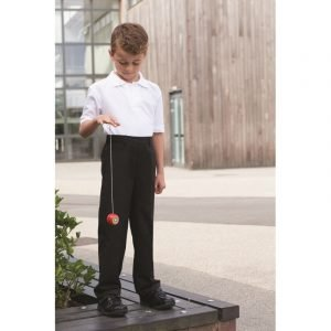 Pulborough Boys Pull-Up Trousers - Navy - 3-4