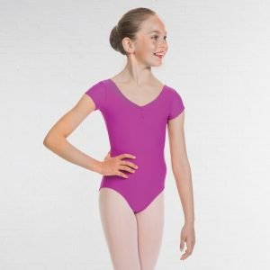 Vale School of Dance Capped Sleeve Burgundy Leotard (Senior)