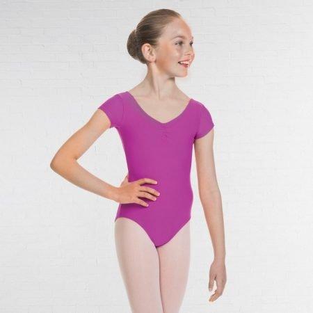 Vale School of Dance Capped Sleeve Burgundy Leotard (Senior)