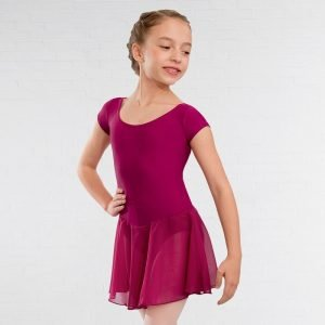Vale School of Dance Voile Skirted Rose Pink Leotard