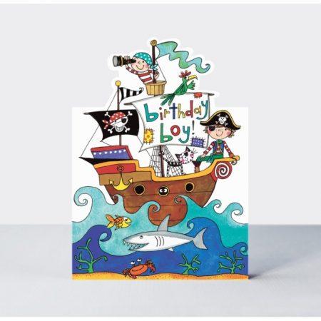 Rachel Ellen Birthday Boy Pirate Ship Card