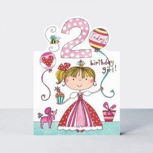 Rachel Ellen 2 Today Birthday Girl Card