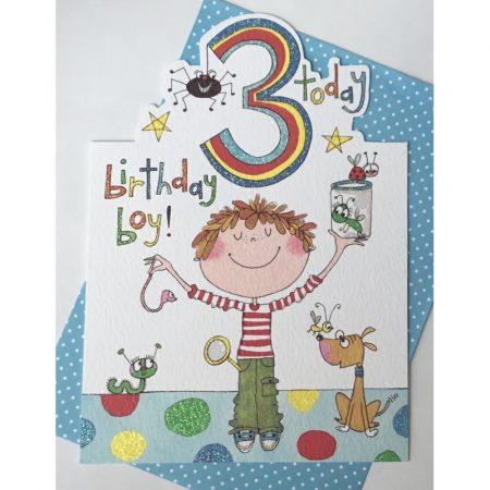 Rachel Ellen 3 Today Birthday Boy Card