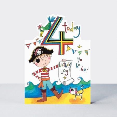 Rachel Ellen 4 Today Birthday Boy Card