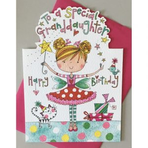 Rachel Ellen To A Special Grandaughter Happy Birthday Card