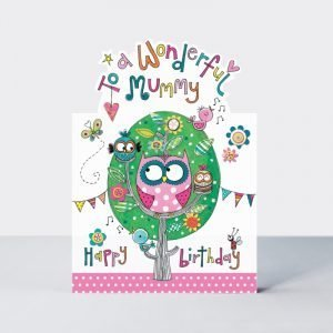 Rachel Ellen To My Wonderful Mummy Happy Birthday Card