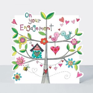 On Your Engagement Bird Box Card