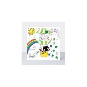 Rachel Ellen Good Luck Horseshoe & Black Cat Card