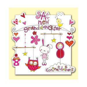 Rachel Ellen A New Granddaughter Congratulations Card