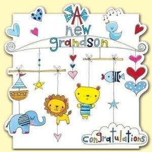 Rachel Ellen A New Grandson Congratulations Card