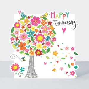 Rachel Ellen Happy Anniversary Blossom Tree Card