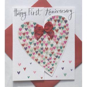 Rachel Ellen Happy First Anniversary Card