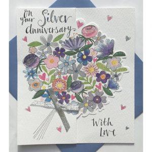 Rachel Ellen On Your Silver Anniversary Card