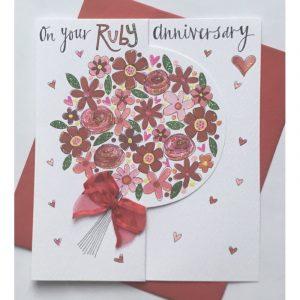 Rachel Ellen On Your Ruby Anniversary Card