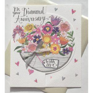 Rachel Ellen On Your Diamond Anniversary Card