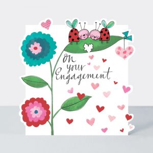 On Your Engagement Ladybirds Card