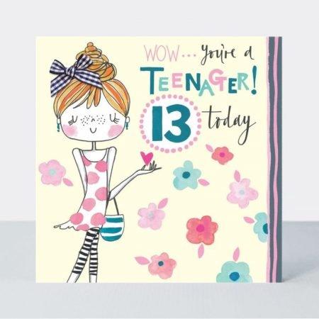 Rachel Ellen Wow... You're A Teenager 13 Today Card