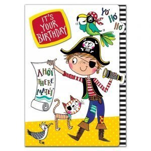 Rachel Ellen 5 Happy Birthday Pirate Card