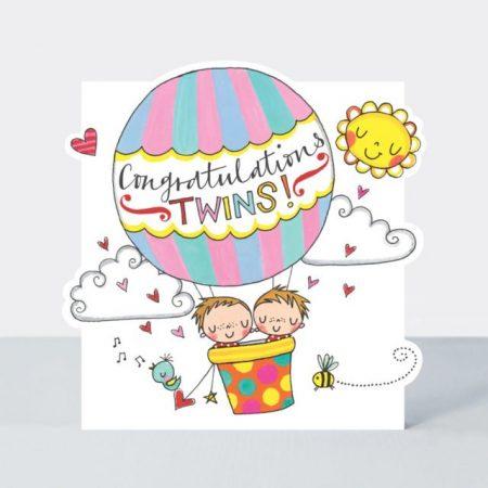 Rachel Ellen Congratulations Twins Card