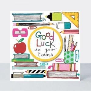 Rachel Ellen Good Luck In Your Exams Stationery Card