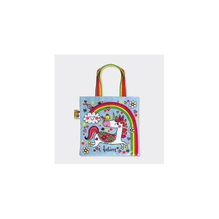 Rachel Ellen Tote Bag - Unicorns and Rainbows