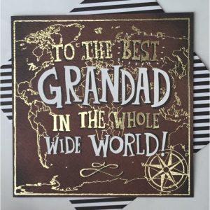 Rachel Ellen To The Best Grandad In The Whole Wide World Card
