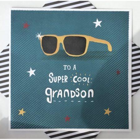 Rachel Ellen To A Super Cool Grandson Card