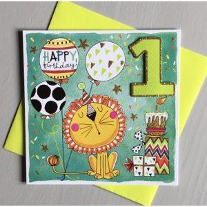 Rachel Ellen Happy Birthday 1 Lion Card