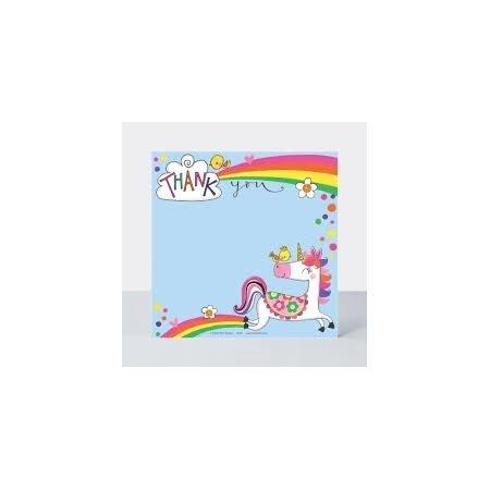 Rachel Ellen Pack of 8 Thank You Cards - Unicorn