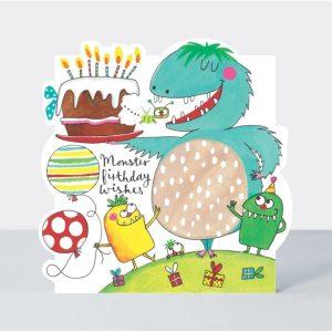 Rachel Ellen Monster Birthday Wishes Card