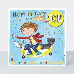 Rachel Ellen Hapy Birthday To A Great Son Card