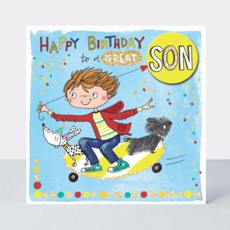 Rachel Ellen Hapy Birthday To A Great Son Card