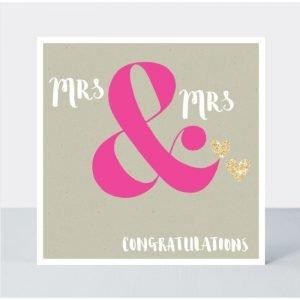 Rachel Ellen Mrs & Mrs Congratulations Wedding Card