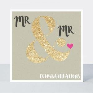 Rachel Ellen Mr & Mr Congratulations Wedding Card