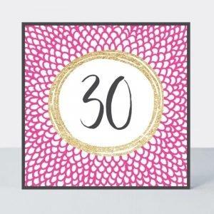 Rachel Ellen 30 Pink Fizz Black Spots Card