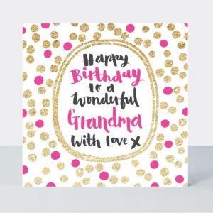 Rachel Ellen Happy Birthday To A Wonderful Grandma Card
