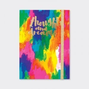 Rachel Ellen A6 Lined Notebook - Thoughts and Dreams Abstract Colours