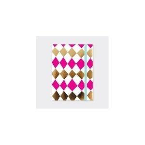 Rachel Ellen A6 Lined Notebook - Diamonds
