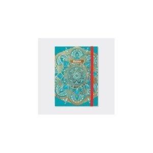 Rachel Ellen A6 Lined Notebook - Teal Mandala Notes