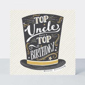 Rachel Ellen Top Uncle Have A Top Birthday Card