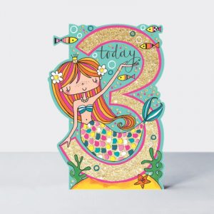 Rachel Ellen 3 Today Mermaid Card