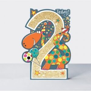 Rachel Ellen 2 Today Dinosaur Card