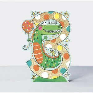 Rachel Ellen 3 Today Dinosaur Card
