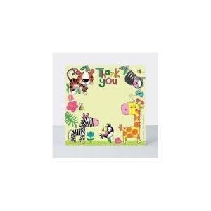 Rachel Ellen Pack of 8 Thank You Cards - Jungle